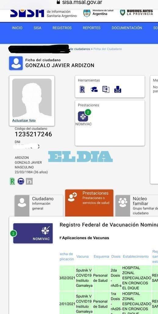 """Titular del PAMI Ensenada se dio la vacuna Sputnik V como """"personal de salud"""""""