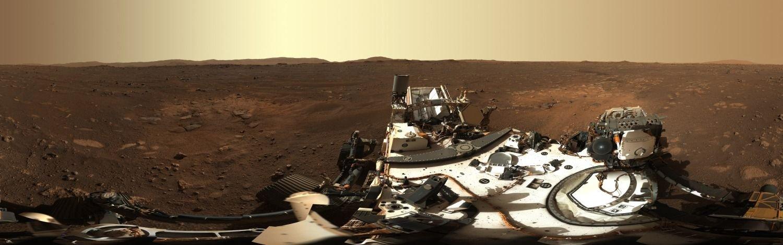 La foto panorámica 360° de Marte sacada por el Perseverance de la NASA