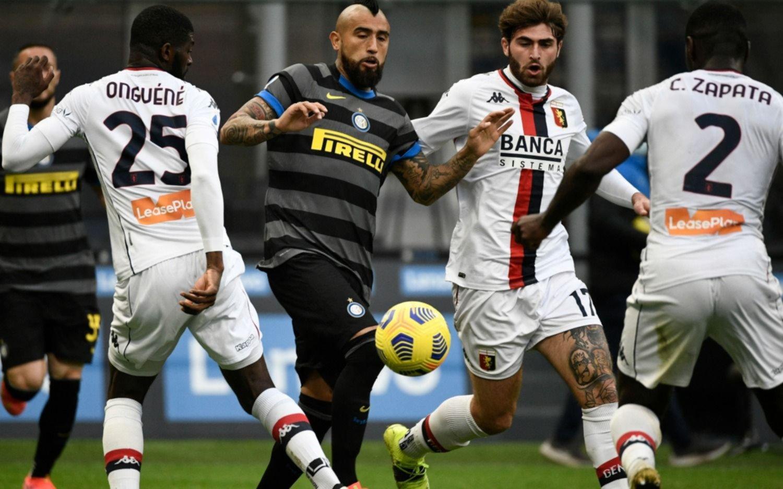 Inter goleó a Genoa y sigue en lo más alto de la Serie A, a cuatro puntos del Milan