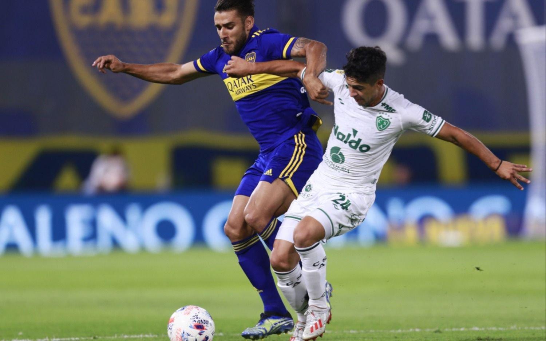 Boca no pasó del empate como local ante Sarmiento en la Bombonera