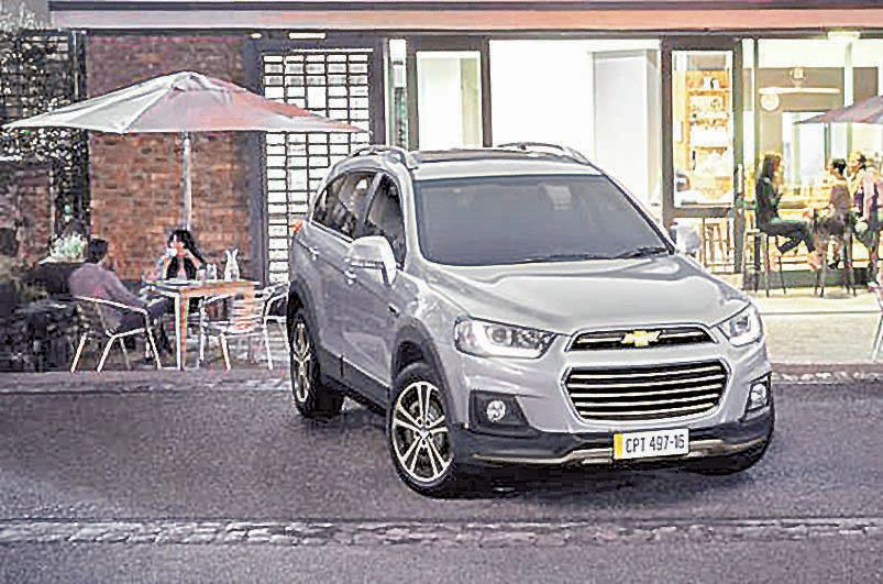 Chevrolet actualizó su utilitario deportivo Captiva