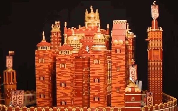 Construyen la versión lego del Red Keep de Game Of Thrones