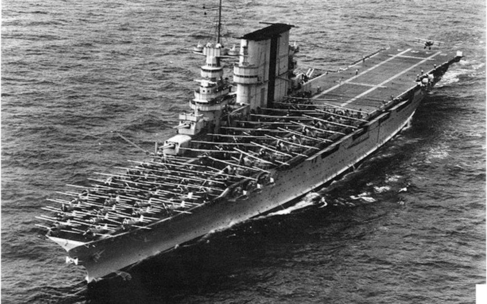 Hallan portaaviones estadounidense hundido en Guerra Mundial