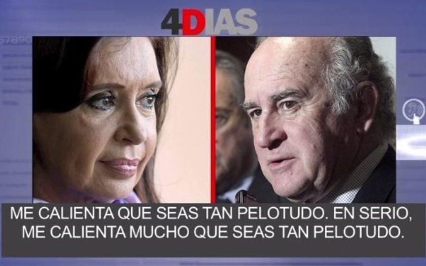 "El estallido de bronca de Cristina con Parrilli: ""me calienta que seas tan pelotudo"""
