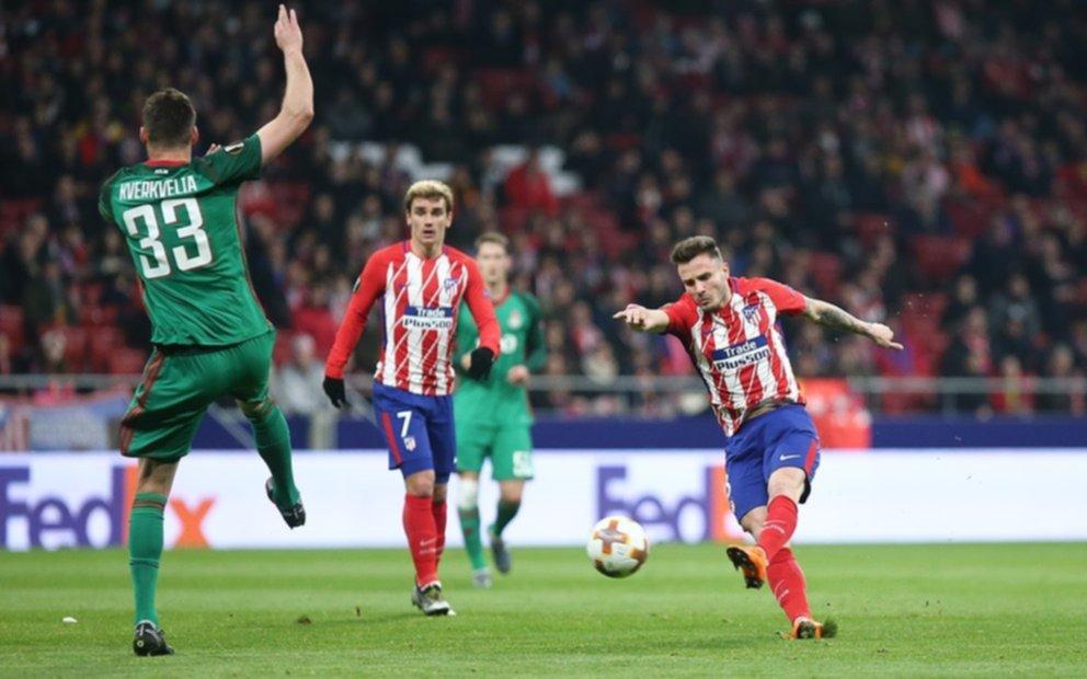 El Atlético del Cholo goleó a Lokomotiv de Rusia por los octavos de final de la Liga de Europa