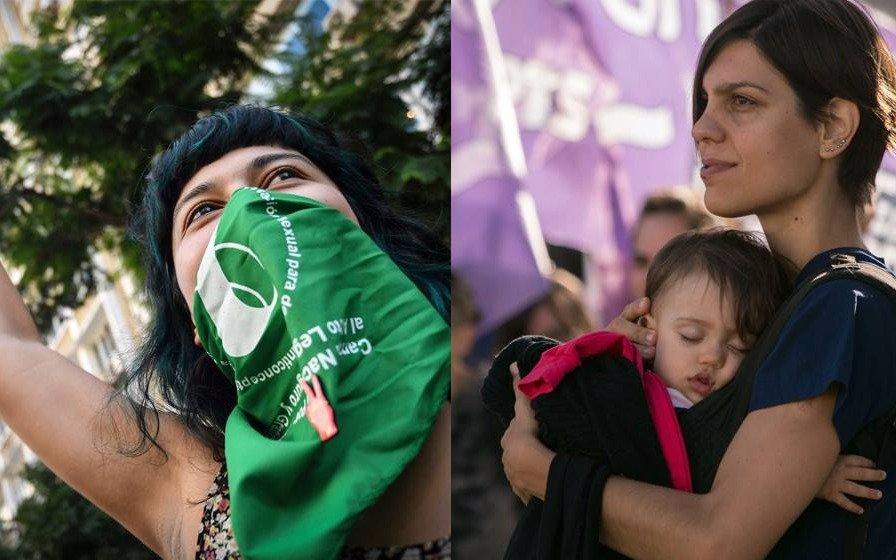 El violeta y el verde, los colores elegidos para la lucha feminista
