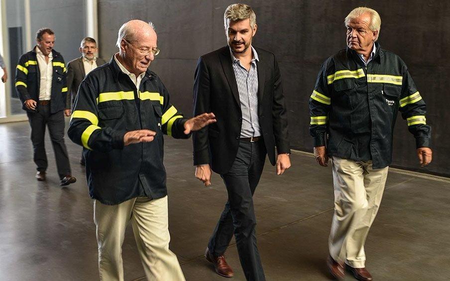 Peña se reunión con Paolo Rocca y recorrió la planta de Techint en Campana