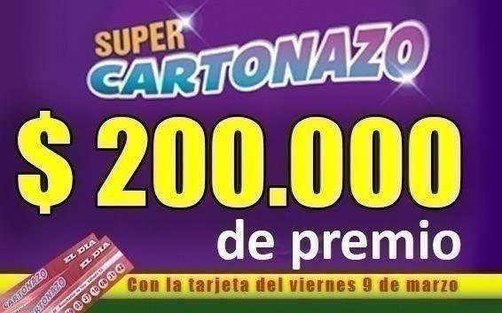 Se define El Cartonazo que esta semana reparte $200.000