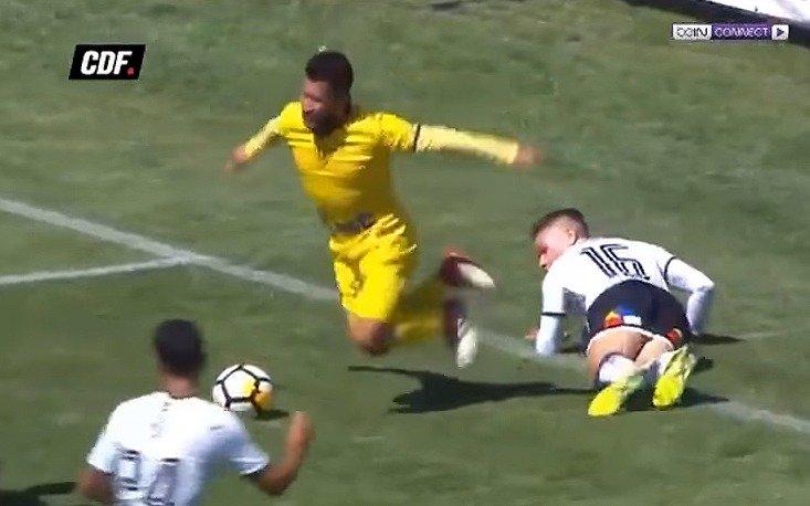 """Insólito """"acting"""", penal, gol y triunfo en el fútbol chileno"""