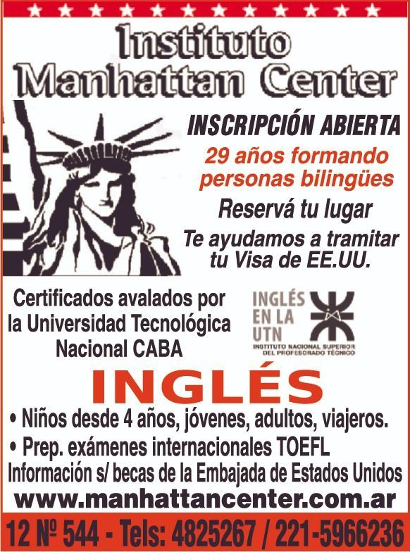 Estudiá ingles en el Instituto Manhattan Center