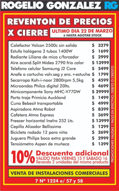 Reventón de precios en Rogelio González por cierre