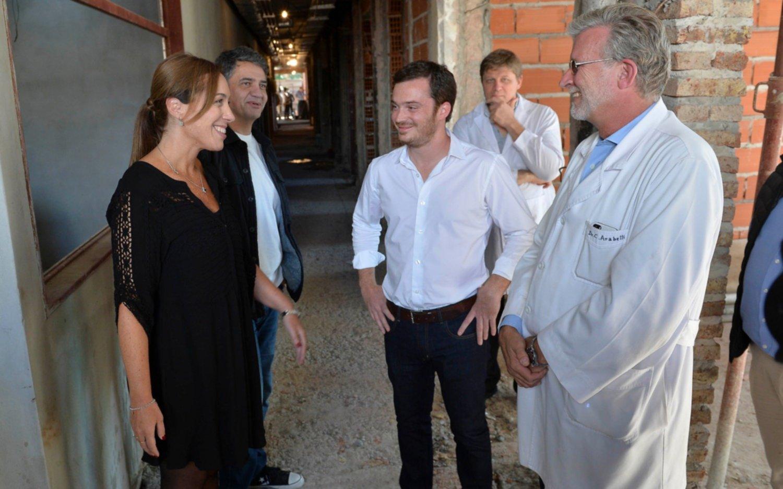 Junto a Jorge Macri, Vidal visitó un hospital en Vicente López