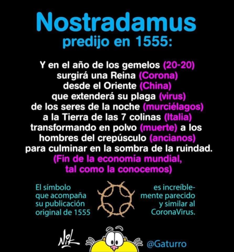 Gato encerrado: críticas a Gaturro por usar falsa predicción de Nostradamus sobre covid-19