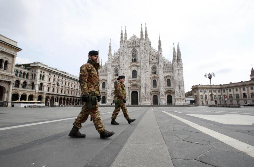 Italia sufrió ayer 651 nuevas muertes y son 5.476 en un mes