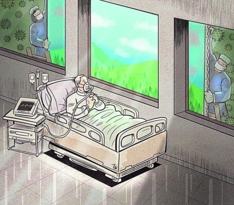 Arte antiviral: dibujos para reflexionar en medio del caos