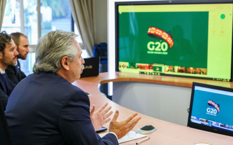 """Alberto Fernández propuso al G-20 crear """"un Fondo Mundial de Emergencia Humanitaria"""""""