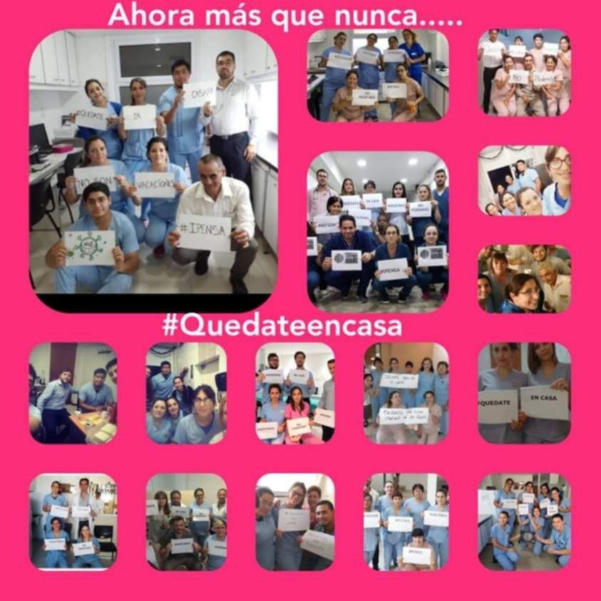 #QuedateEnCasa: emotivos collages de trabajadores de la salud de La Plata
