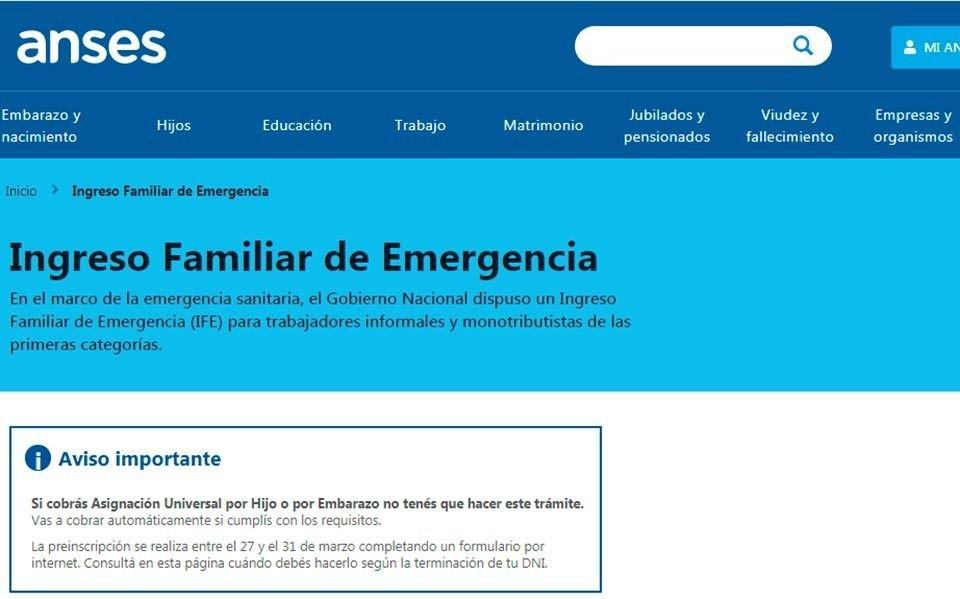 Extienden el plazo de inscripción para el Ingreso Familiar de Emergencia de 10 mil pesos