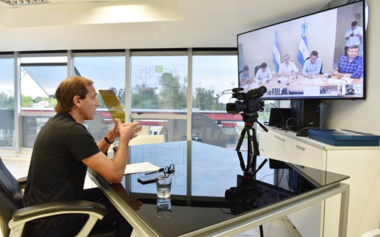Garro habló por videoconferencia con Alberto Fernández: los detalles de la reunión