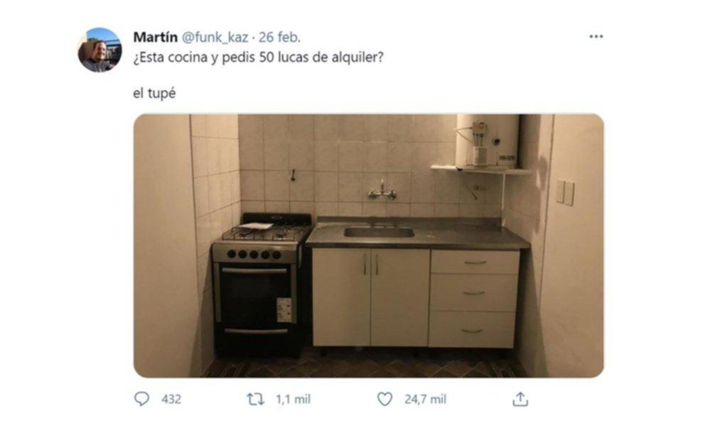Un inquilino se cansó de los elevados precios y un tuit suyo se hizo viral