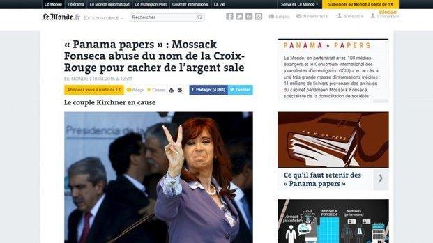 Según Le Monde, Cristina habría lavado dinero usando el nombre de la Cruz Roja