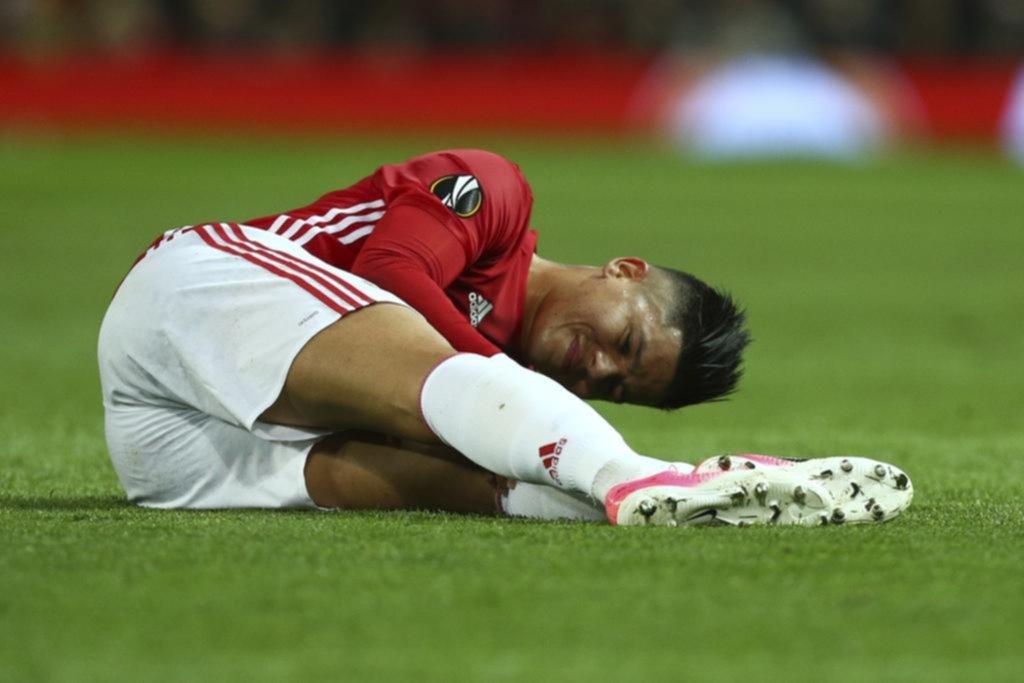 Se lesionó Marcos Rojo