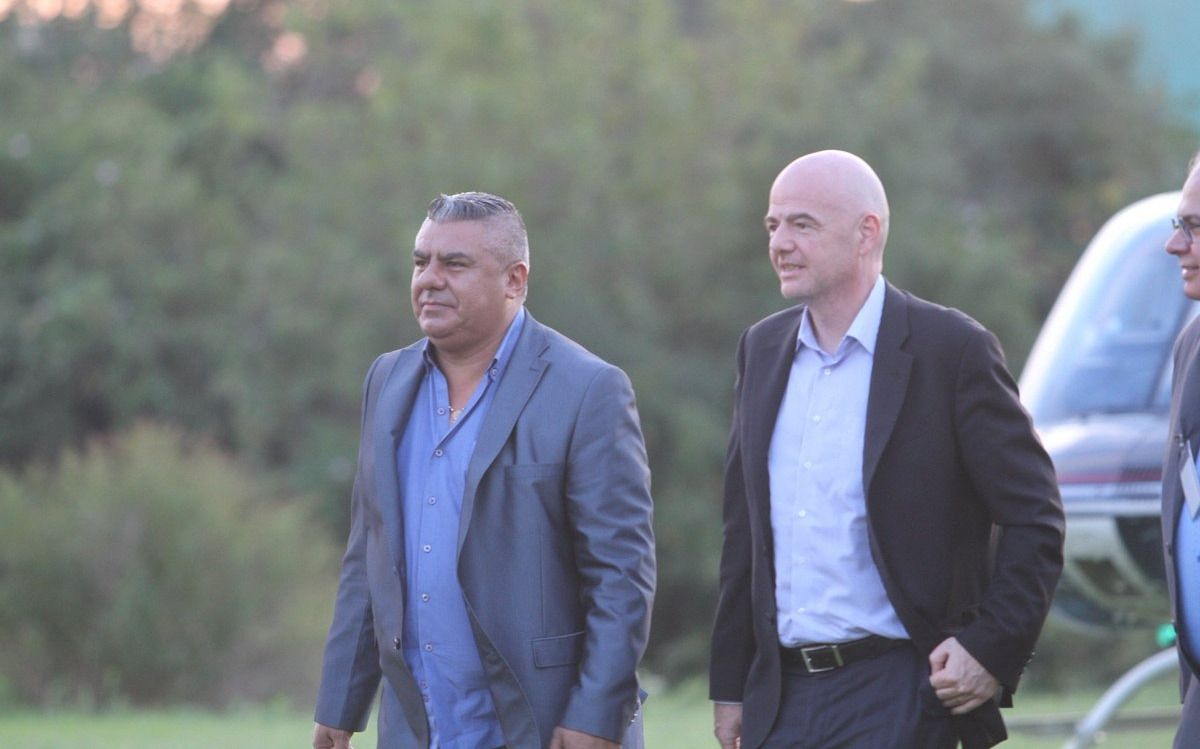 Infantino llegó al país como invitado al Congreso de la Conmebol