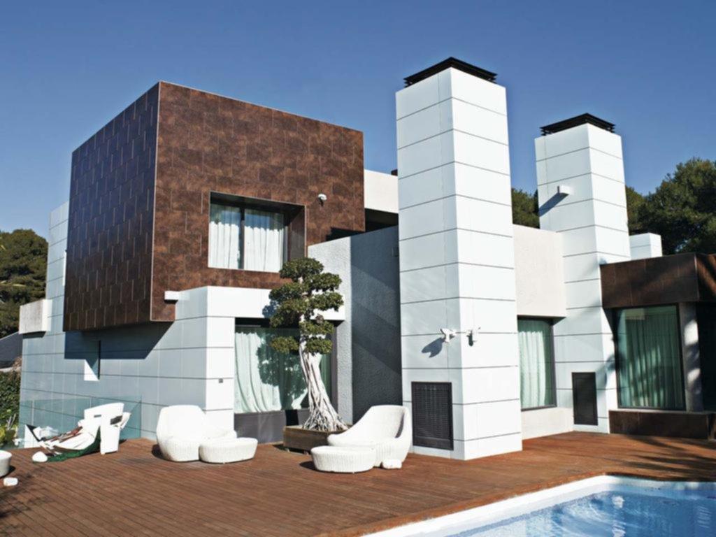 Las baldosas de cer mica hacen un aporte est tico y de calidad a las fachadas hogar - Recubrimientos de fachadas ...