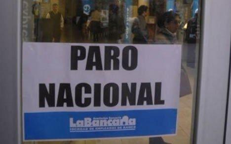 Ratificaron el paro por 48 horas: martes y miércoles no abren los bancos