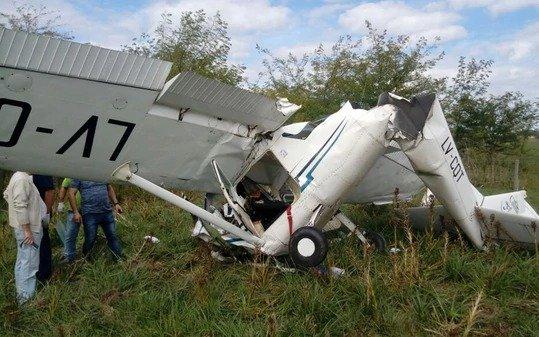 Una avioneta cayó en General Rodríguez y hay dos personas heridas