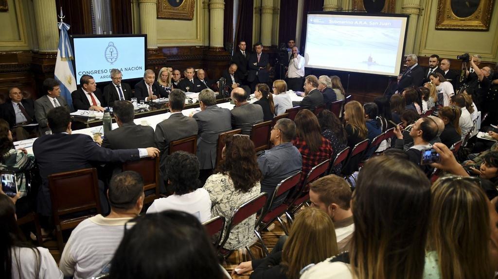 El ministro Aguad prometió en el Congreso que no dejarán de buscar al ARA San Juan