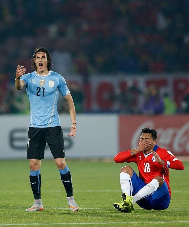 Jara y el episodio con Cavani en la Copa América 2015
