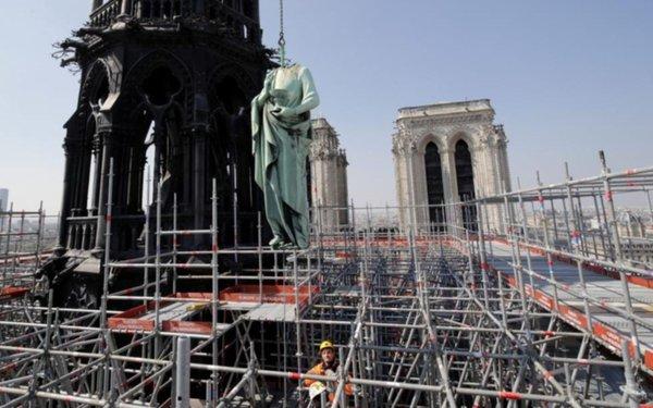 Así era la obra de restauración que se realizaba en Notre Dame