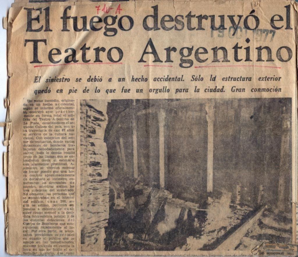 El trágico antecedente del Teatro Argentino