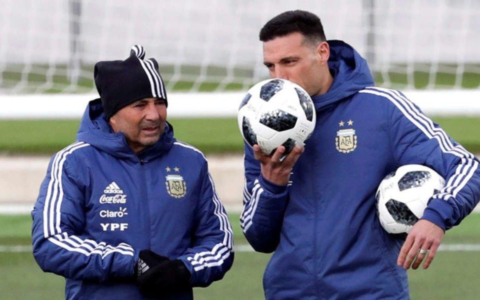"""Scaloni se defiende: """"Sampaoli sabía que quería quedarme en la Selección"""""""