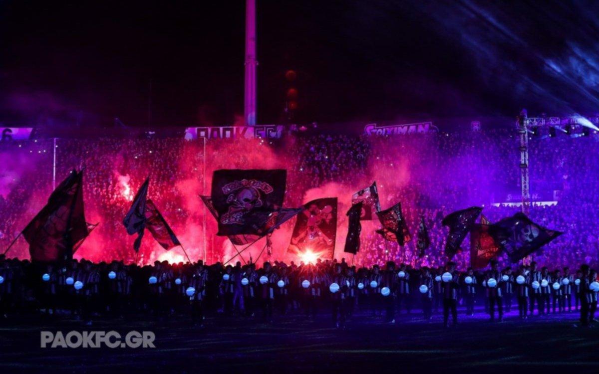 El espectacular festejo del campeón del fútbol griego