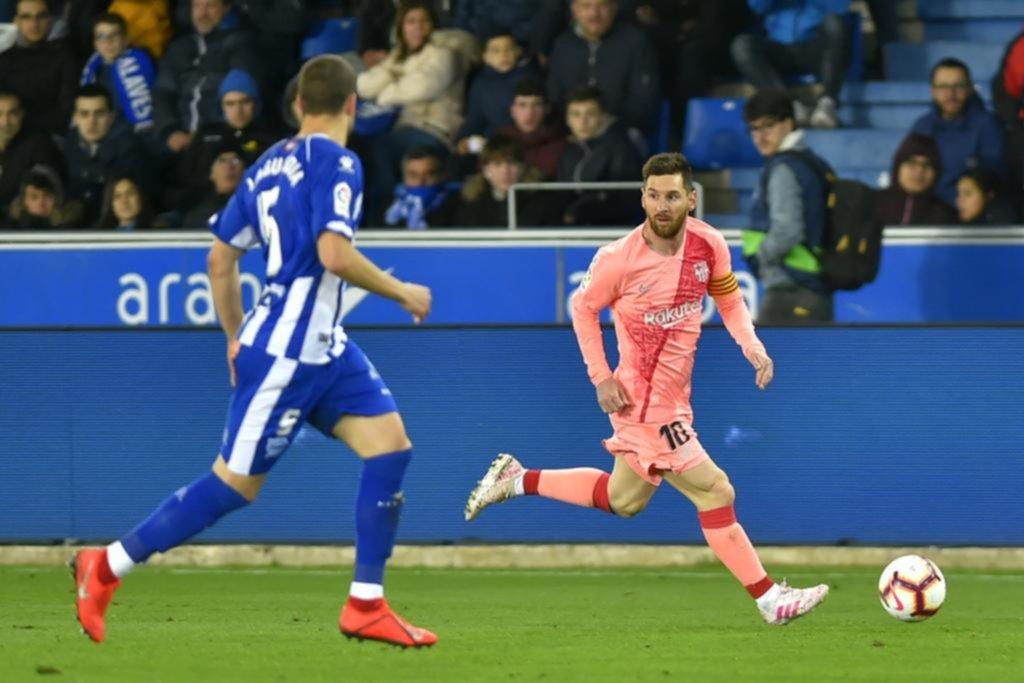 Messi quedó a un paso de dar una nueva vuelta olímpica con Barcelona