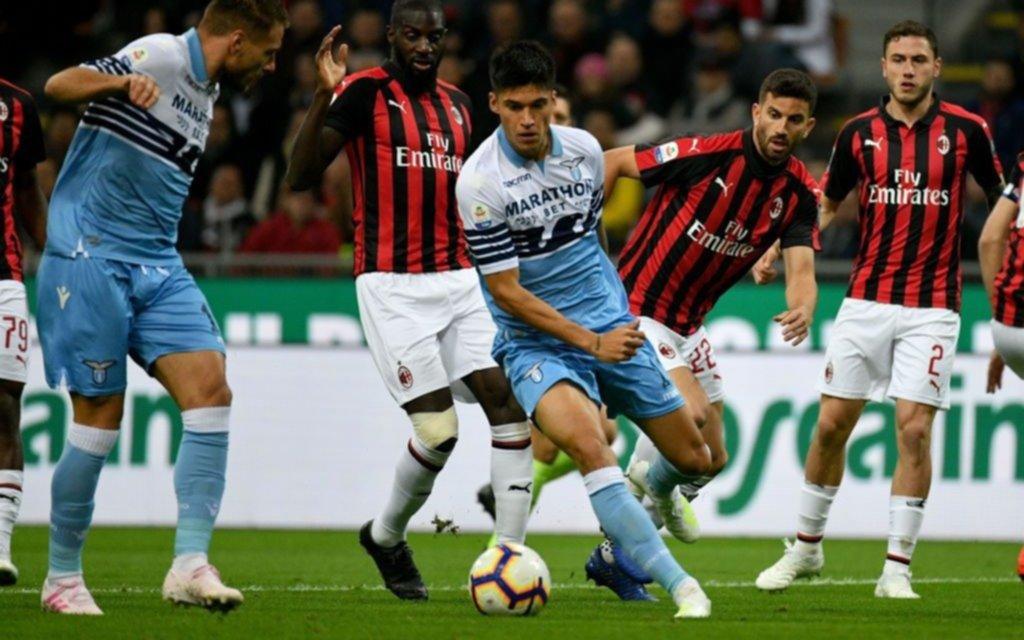 Lazio, con gol de Correa, le ganó a Milan y es finalista de la Copa Italia