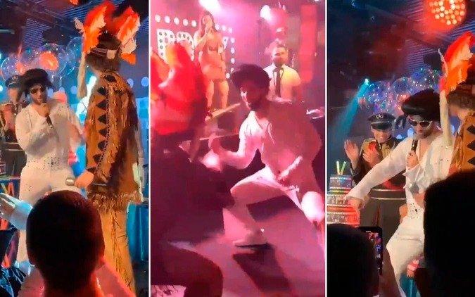 """El """"nuevo"""" Higuaín animó una fiesta disfrazado de Elvis Prresley"""