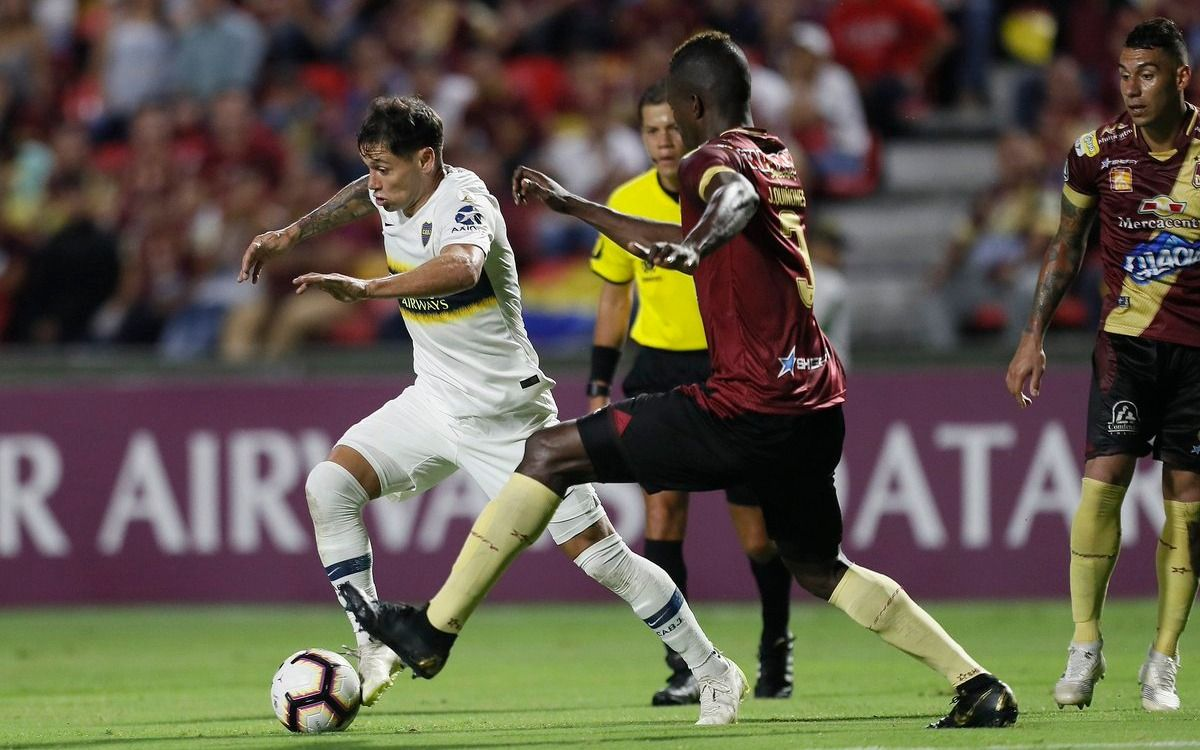 Boca retornó al país tras el empate en Colombia