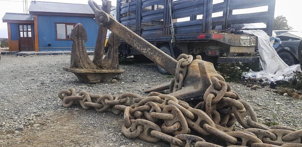 Se llevó dos anclas de 1.600 kilos declaradas patrimonio histórico