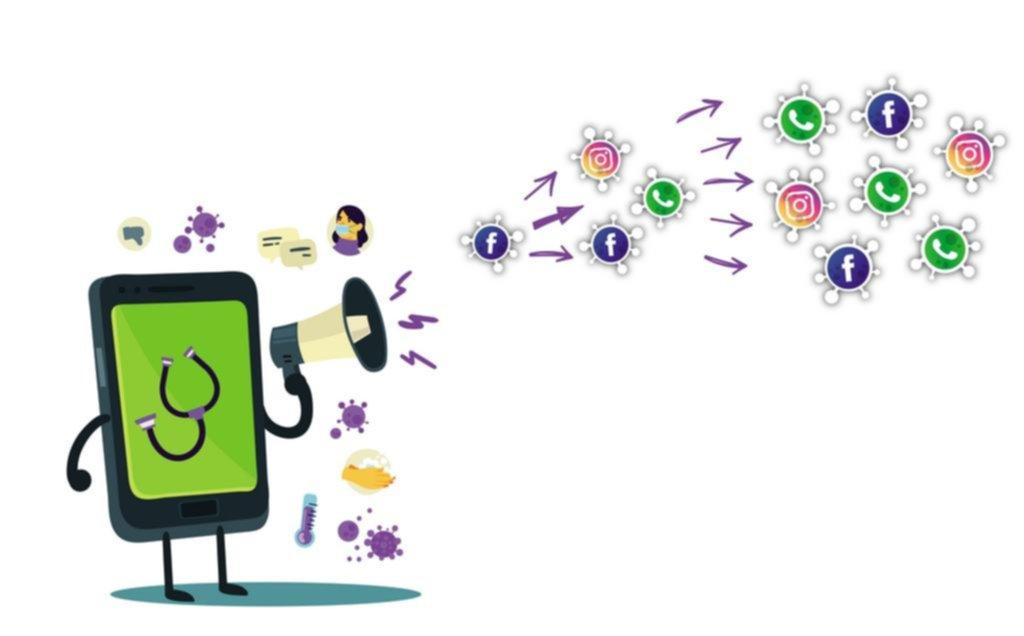 """""""Infodemia"""": la otra forma de contagio que se transmite por las redes sociales"""