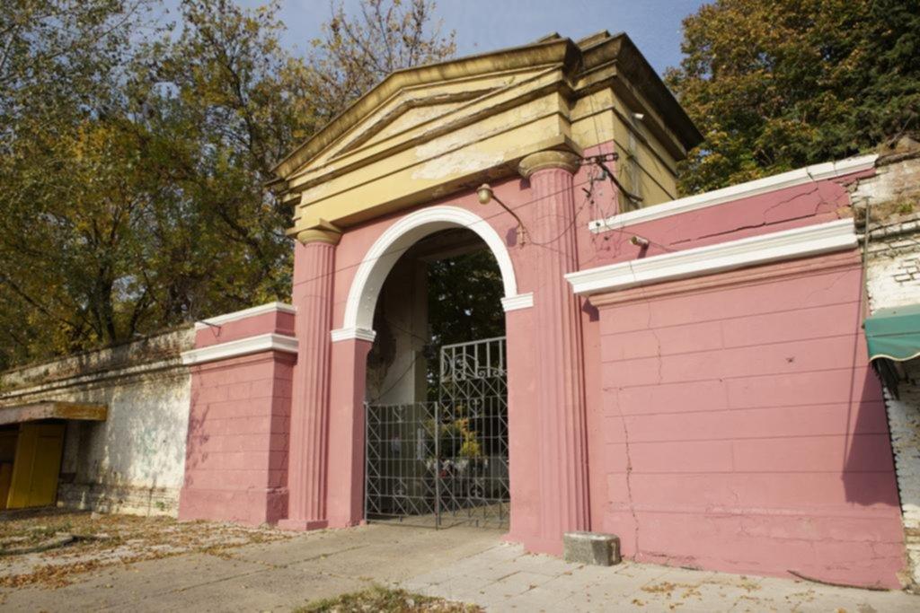 En plena cuarentena pintan de rosado el Cementerio platense y se abre un debate