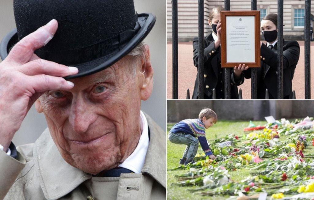 La realeza británica de luto por la muerte del príncipe Felipe