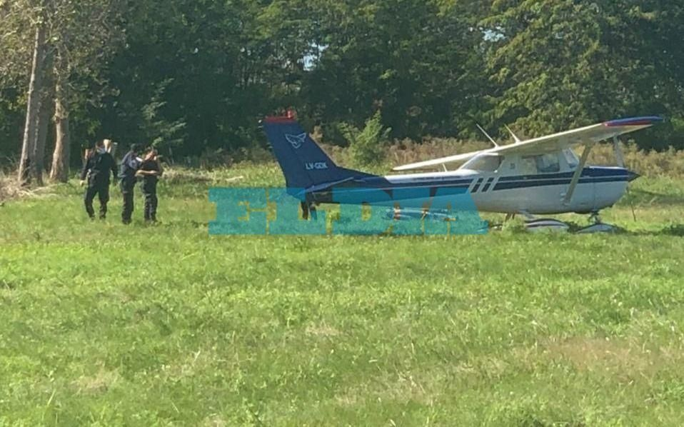 Misterioso aterrizaje de una avioneta en La Plata