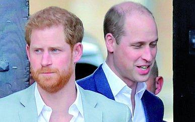 William y Harry separados en el funeral de Felipe