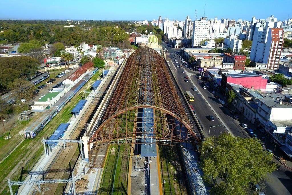 Inicia la obra para readecuar el techo de la Estación