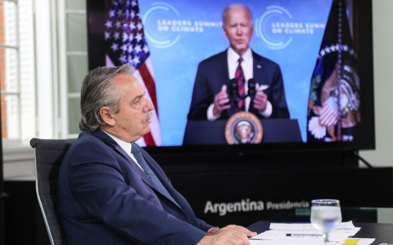 Cumbre del clima: Joe Biden se retiró cuando Alberto Fernández comenzaba con su presentación