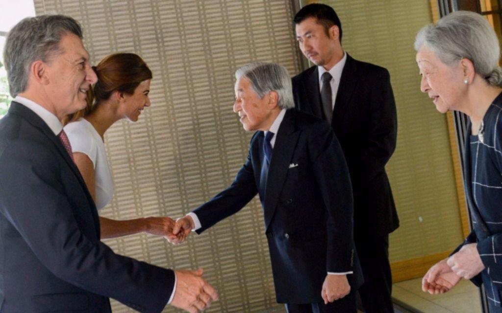 Macri se reunió con el emperador de Japón Akihito