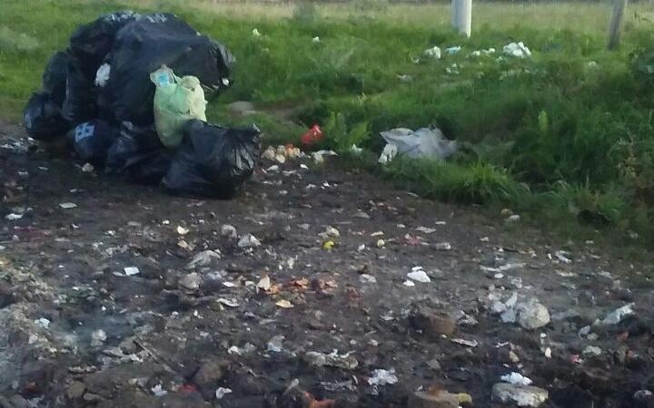 Zanjas desbordadas en medio de basura que no se retira